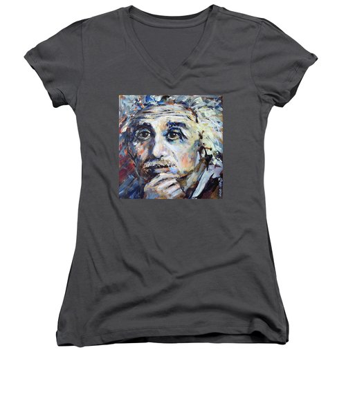 Time To Think Women's V-Neck T-Shirt