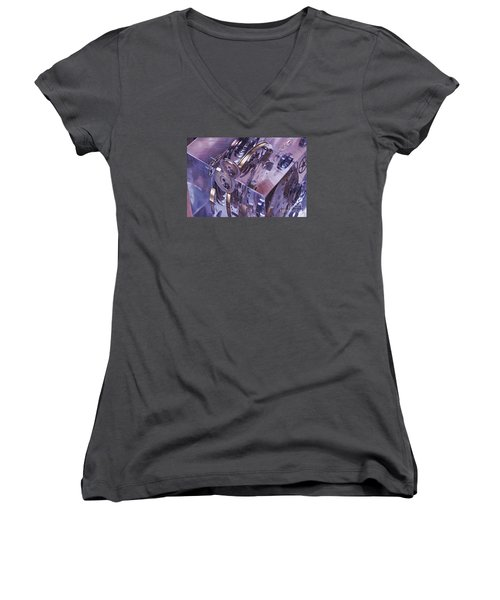 Time Trapped Women's V-Neck