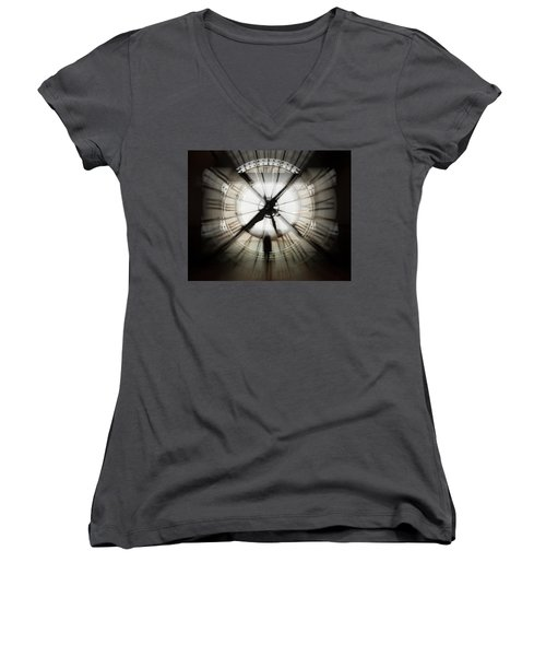 Women's V-Neck featuring the photograph Time Waits For None by Alex Lapidus