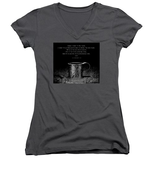 Tin Cup Chalice Lyrics Women's V-Neck T-Shirt