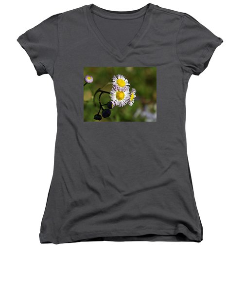 Tiny Little Weed -2- Women's V-Neck (Athletic Fit)