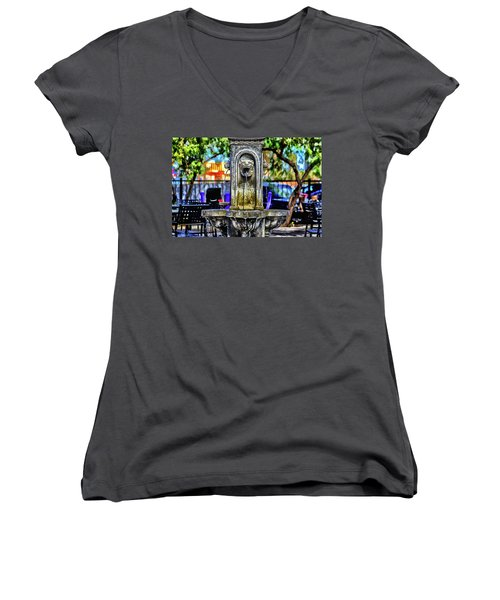 Women's V-Neck T-Shirt (Junior Cut) featuring the photograph Tipsy by Michael Rogers