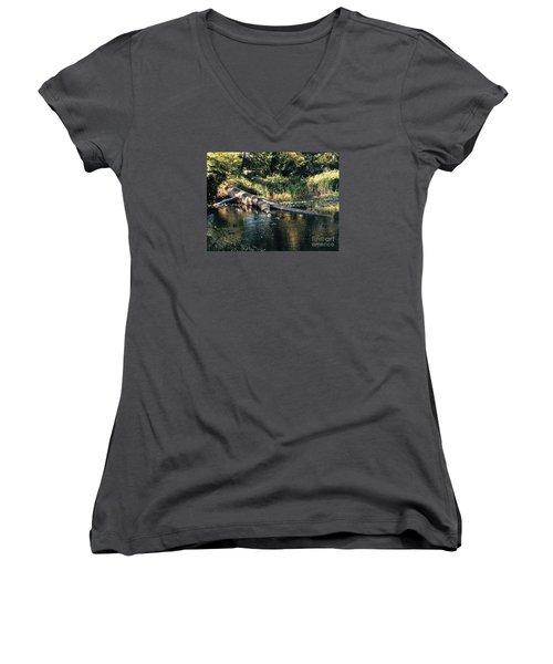 Tired Tree Women's V-Neck T-Shirt