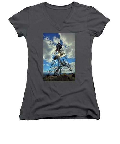 To Climb Or Not To Climb Women's V-Neck T-Shirt (Junior Cut) by David Patterson