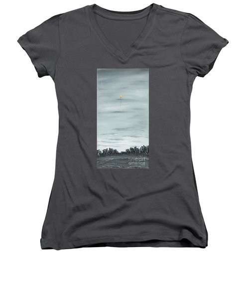 Women's V-Neck T-Shirt (Junior Cut) featuring the painting To The Stars by Kenneth Clarke