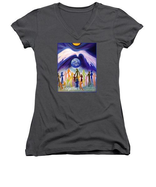 Together... Women's V-Neck (Athletic Fit)