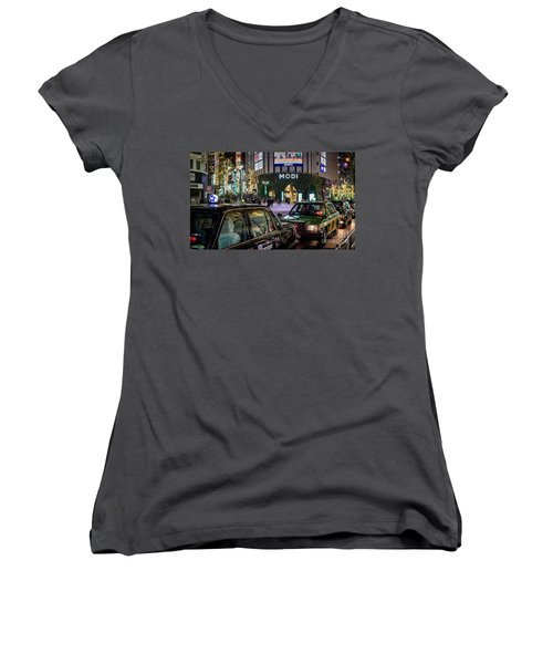 Tokyo Taxis, Japan Women's V-Neck T-Shirt
