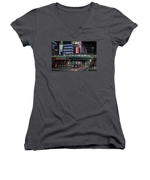 Tokyo Transportation, Japan Women's V-Neck T-Shirt