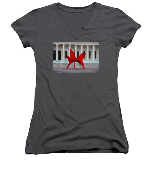 Toledo Museum Of Art With Alexander Calder 1973 'stegosaurus' II Women's V-Neck (Athletic Fit)