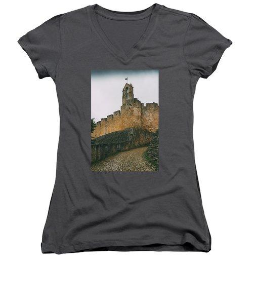 Tomar Castle, Portugal Women's V-Neck