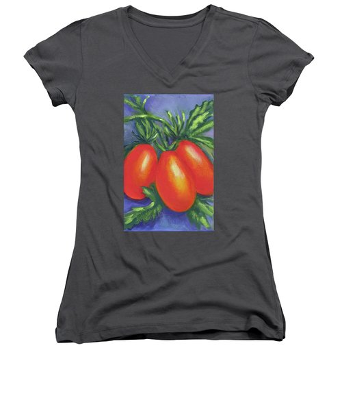 Tomato Seed Packet Women's V-Neck T-Shirt (Junior Cut)
