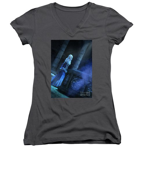 Tomb Of Shadows Women's V-Neck T-Shirt