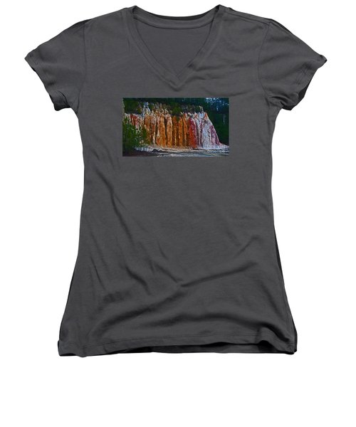 Tombs Land Formation Women's V-Neck