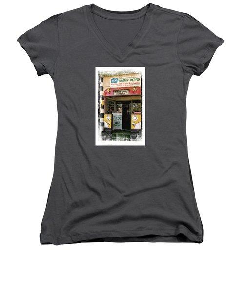 Tommy Ryans Women's V-Neck T-Shirt (Junior Cut) by Bob Pardue