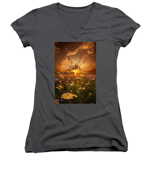 Tomorrow Is Just One Of Yesterday's Dreams Women's V-Neck