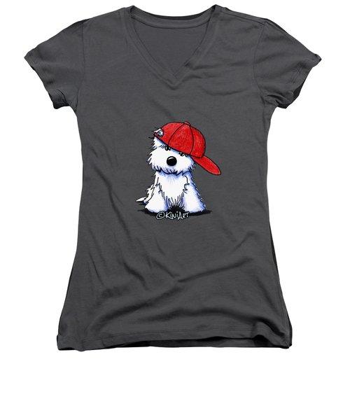 Too Cool For School Women's V-Neck T-Shirt