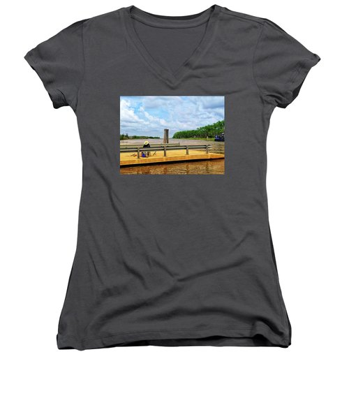 Too Hot To Fish Women's V-Neck