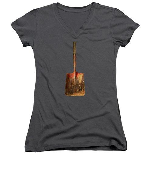 Tools On Wood 2 Women's V-Neck T-Shirt (Junior Cut) by YoPedro