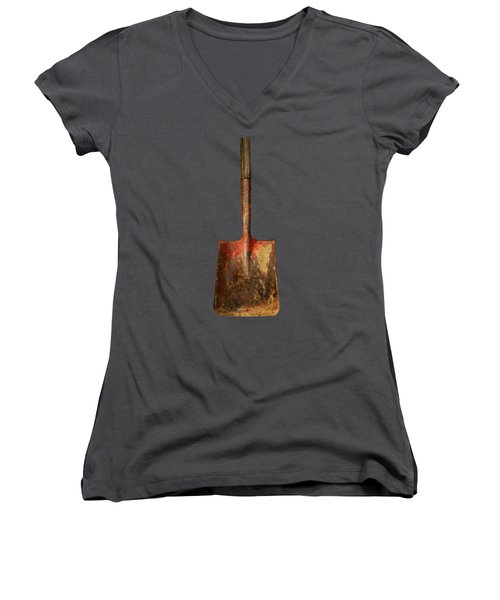 Tools On Wood 2 Women's V-Neck (Athletic Fit)