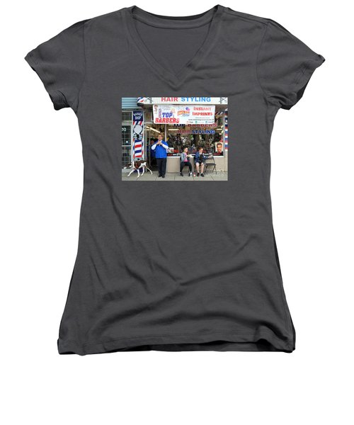 Top Barbers Women's V-Neck (Athletic Fit)