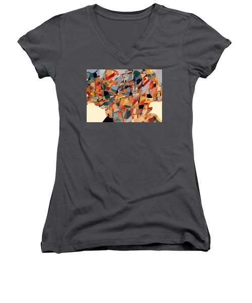 Tornado Women's V-Neck T-Shirt (Junior Cut) by Bernard Goodman