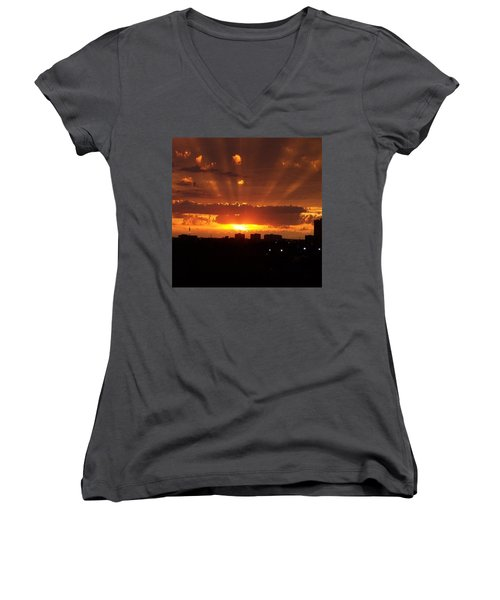 Toronto - Just One Breathtaking Sunset Women's V-Neck T-Shirt (Junior Cut)