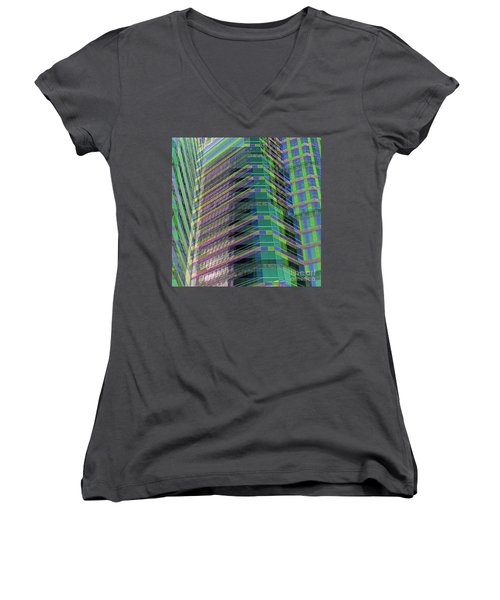 Abstract Angles Women's V-Neck