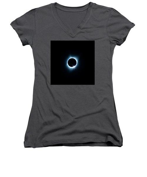 Total Eclipse Women's V-Neck T-Shirt