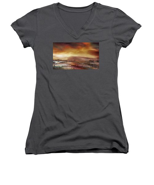 Touch By The Sunrise Women's V-Neck