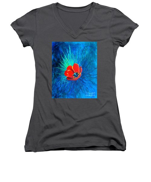 Touched By His Light Women's V-Neck