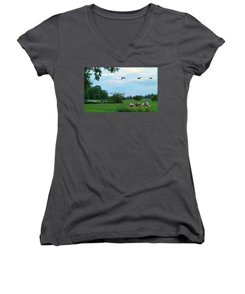 Touring New England Women's V-Neck T-Shirt