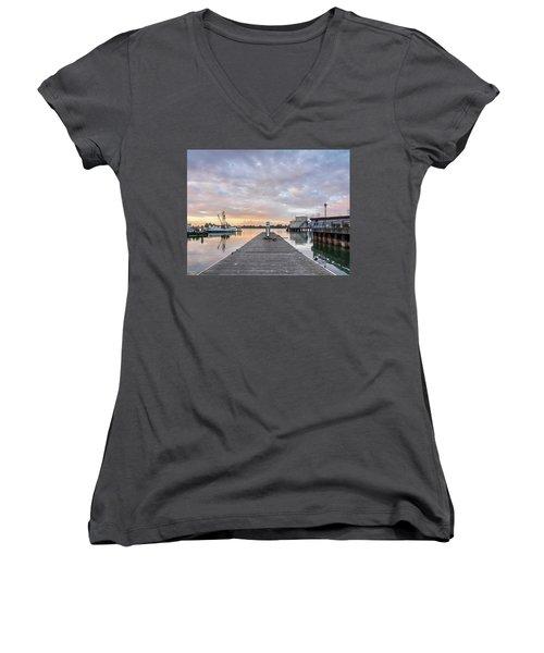 Toward The Dusk Women's V-Neck T-Shirt (Junior Cut) by Greg Nyquist