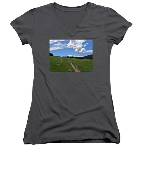 Towards The Sky Women's V-Neck T-Shirt