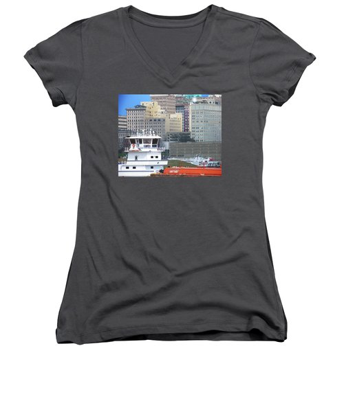 Towboat Robt G Stone At Memphis Tn Women's V-Neck (Athletic Fit)