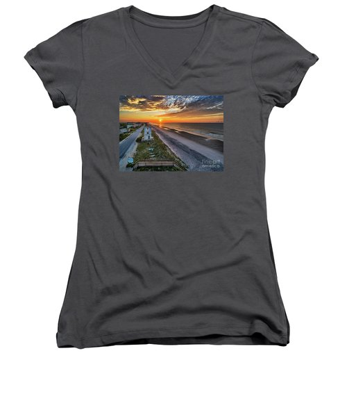 Tower #3 Women's V-Neck (Athletic Fit)