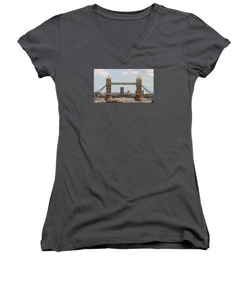 Tower Bridge C Women's V-Neck (Athletic Fit)