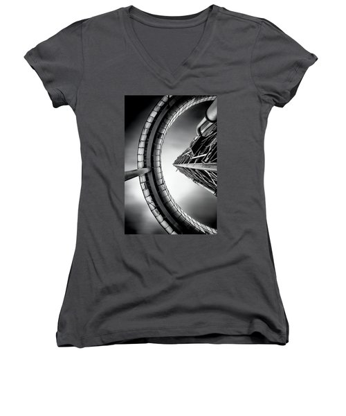Women's V-Neck T-Shirt (Junior Cut) featuring the photograph Tower by Jorge Maia