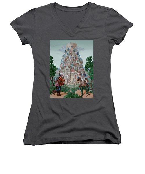 Tower Of Babel Women's V-Neck