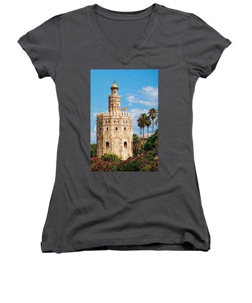 Tower Of Gold Women's V-Neck
