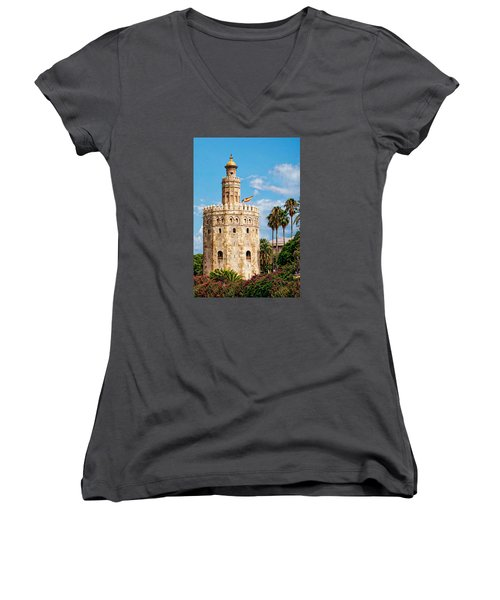 Tower Of Gold Women's V-Neck