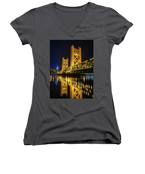 Tower Reflections Women's V-Neck T-Shirt