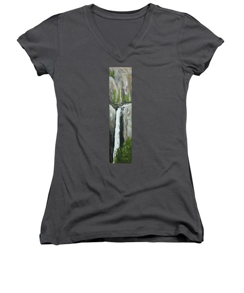 Towering Falls Women's V-Neck (Athletic Fit)