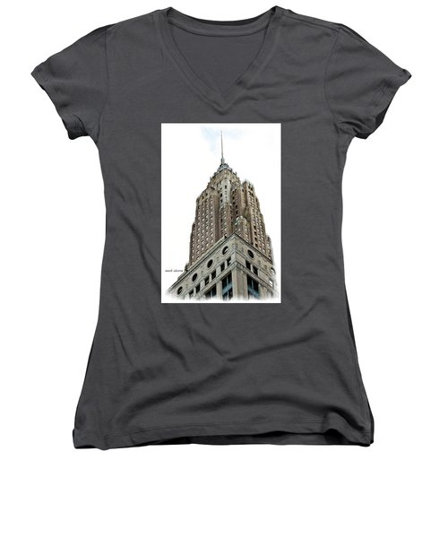 Towering Women's V-Neck (Athletic Fit)