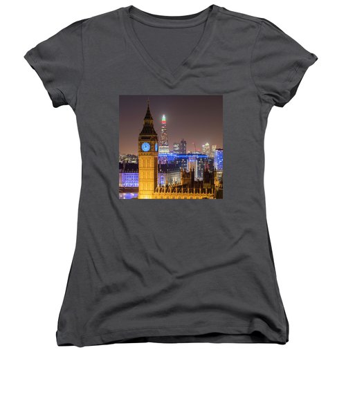 Towers Of London Women's V-Neck (Athletic Fit)