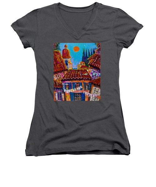 Town By The Sea Women's V-Neck