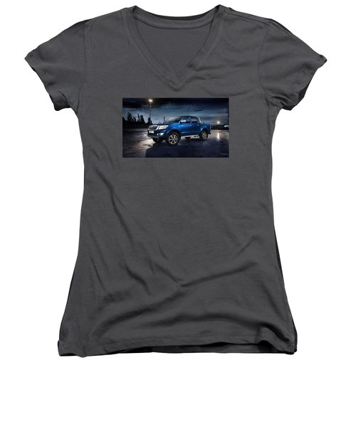Toyota Hilux Women's V-Neck (Athletic Fit)
