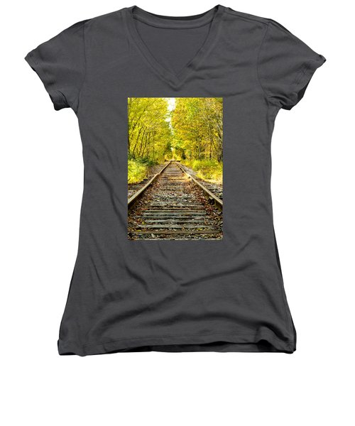 Track To Nowhere Women's V-Neck (Athletic Fit)