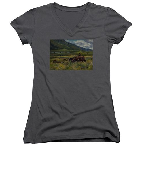 Tractor From Swan Valley Women's V-Neck