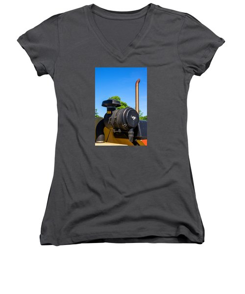 Tractor Pipe Women's V-Neck (Athletic Fit)