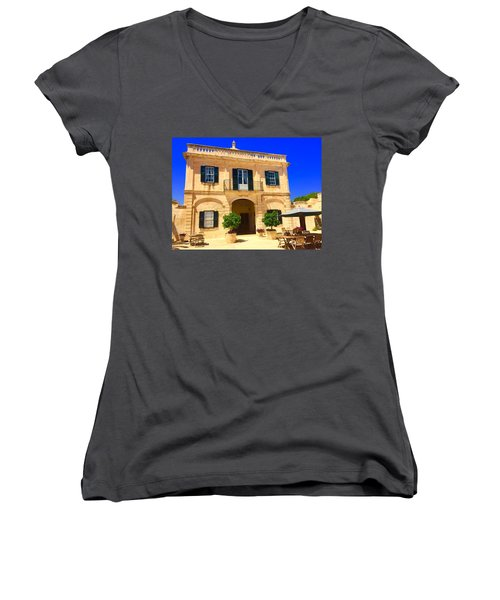 Traditional Menorcan Farmhouse Women's V-Neck T-Shirt